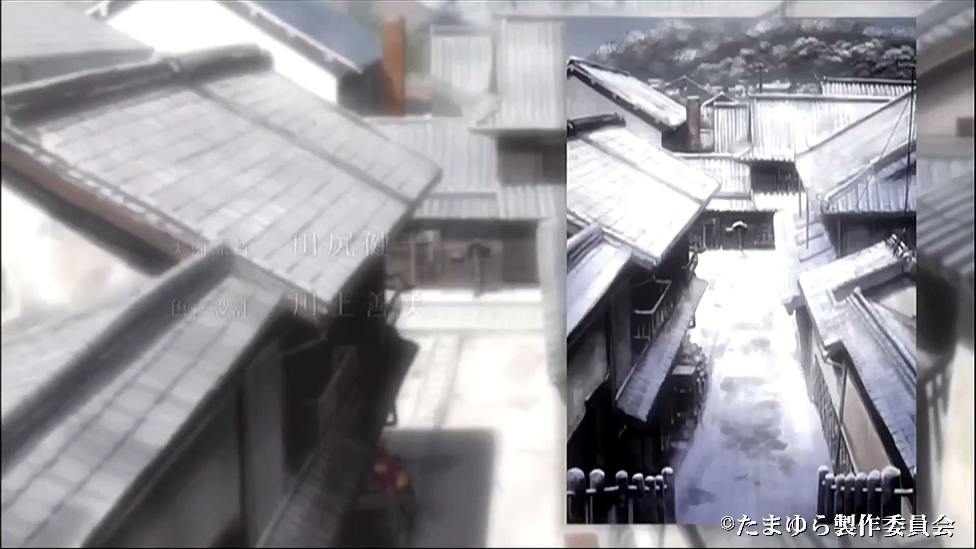 西方寺階段から町並み保存地区を眺める