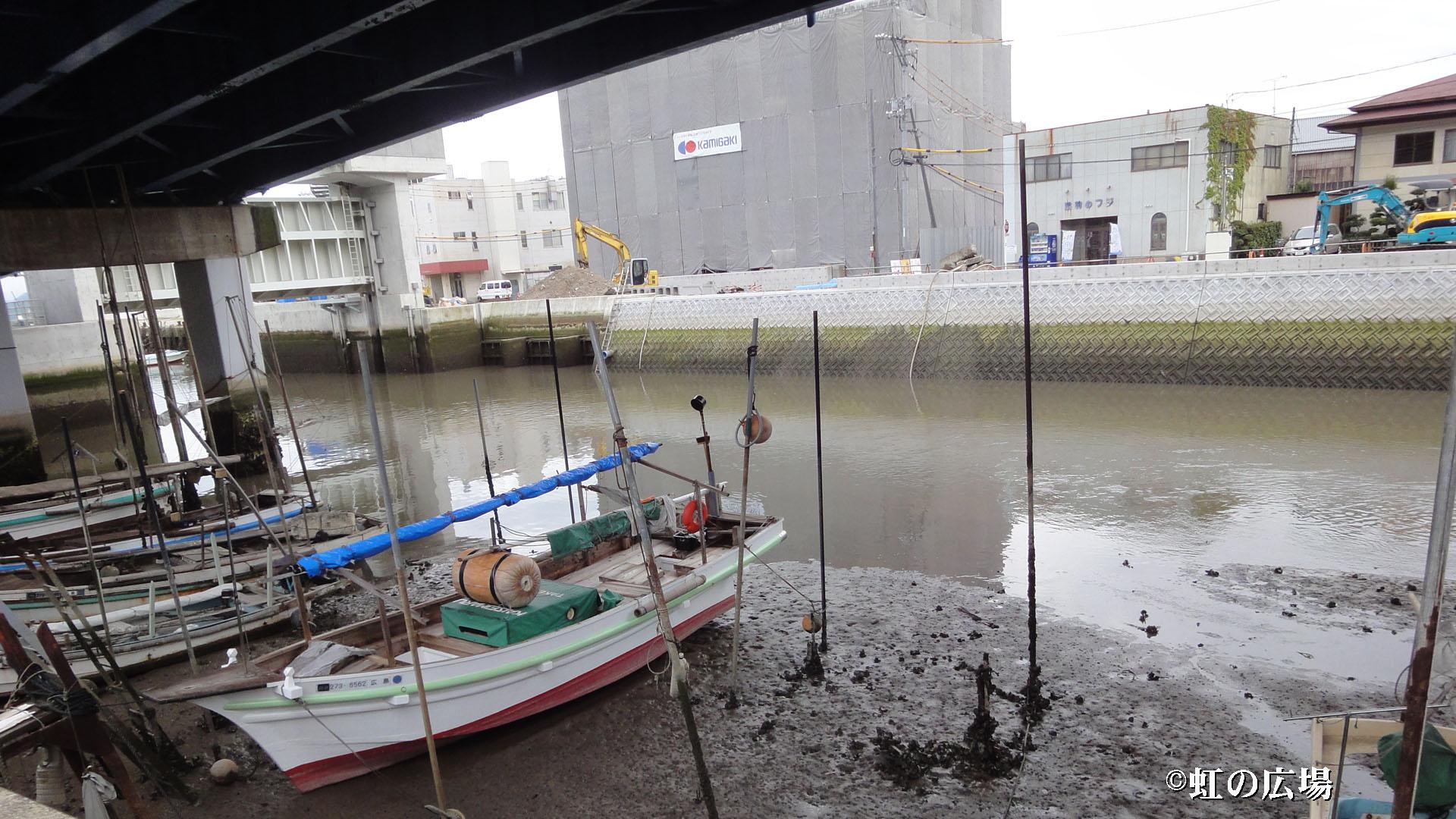 駅前踏切の河口