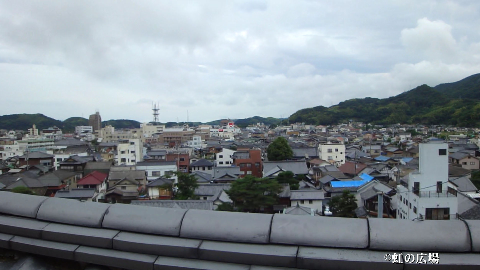 西方寺から竹原市内の眺め