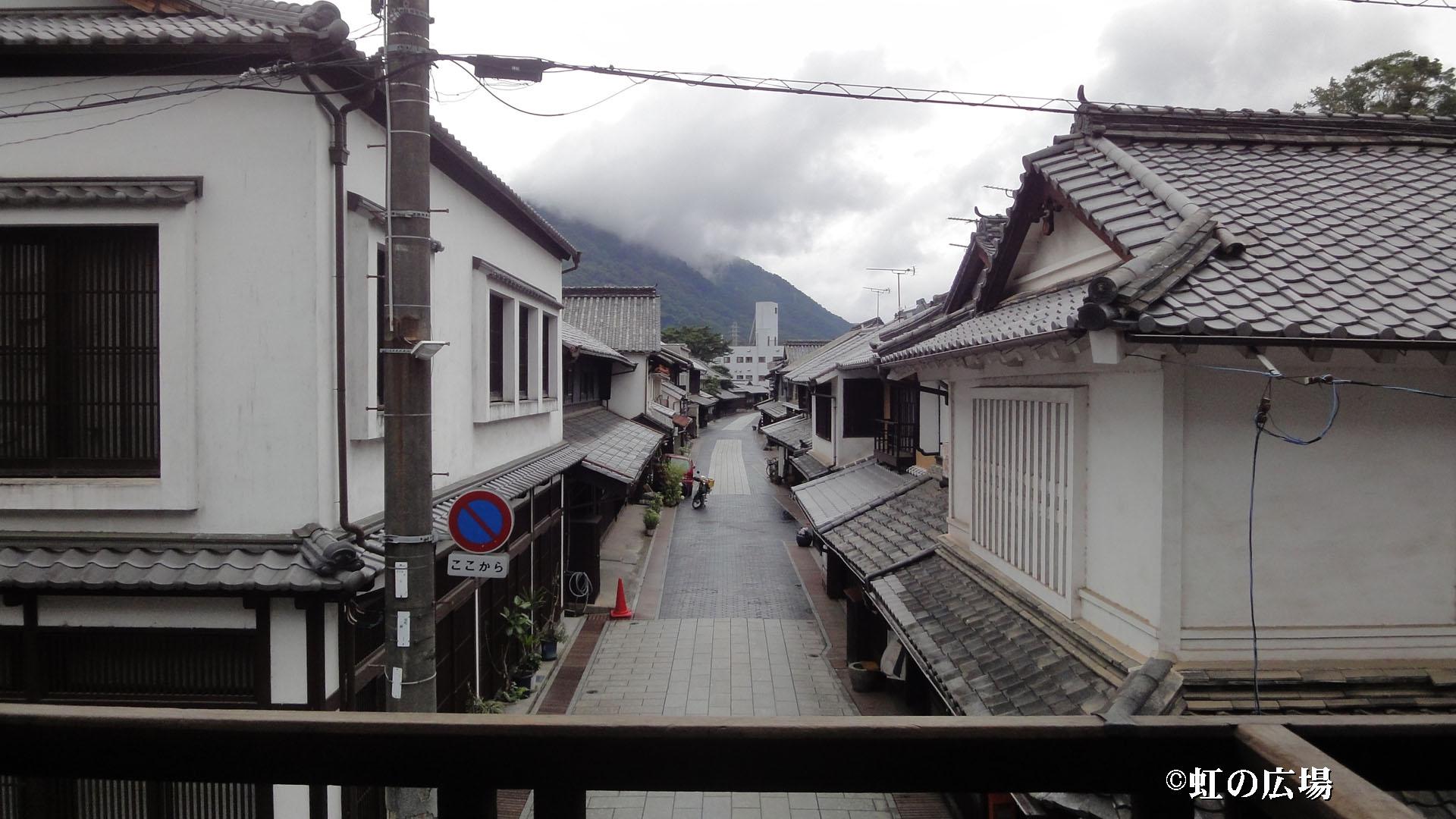 笠井邸から見る町並み保存地区<12話>