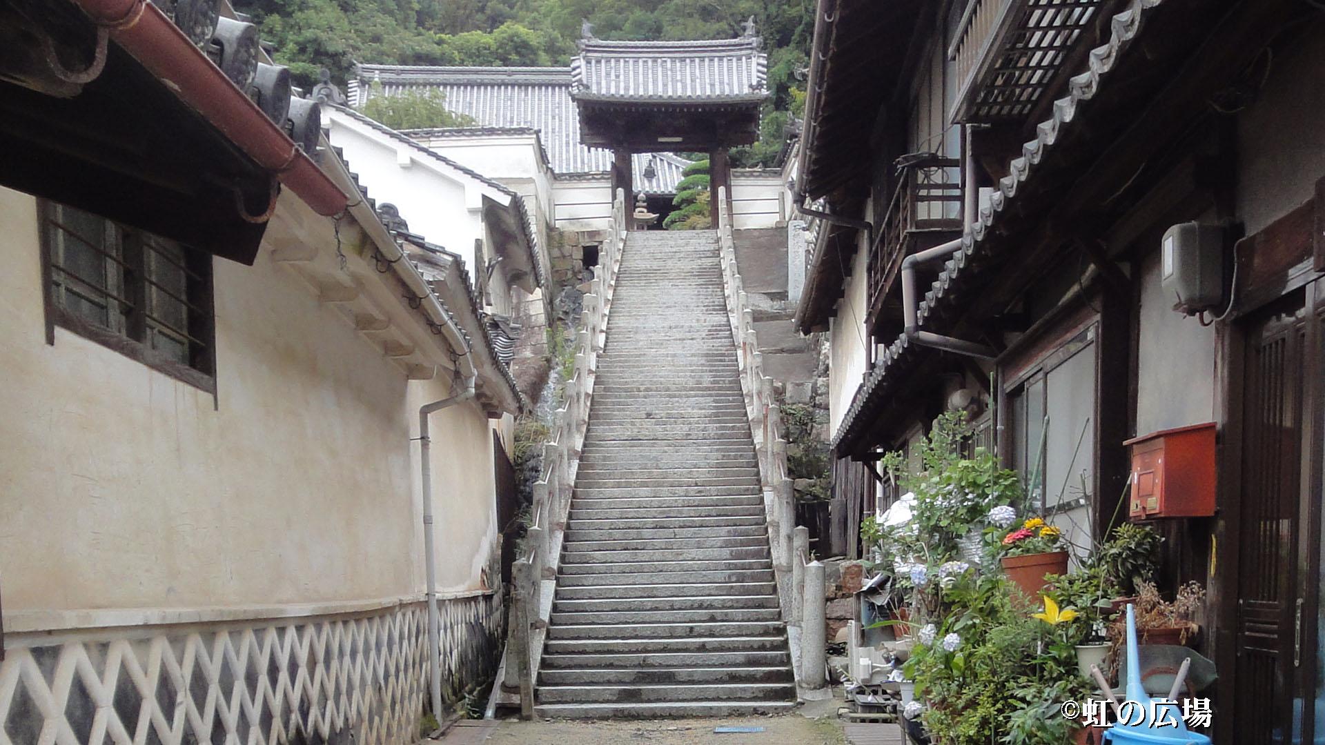 西方寺の階段